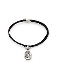 Alex And Ani Key To Life Pull Cord Bracelet Black Silver