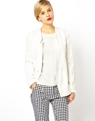 Asos Premium Blazer In Slim Fit White
