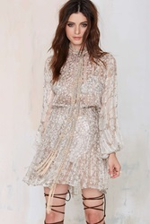 Nasty Gal Vintage Field Day Foiled Chiffon Dress