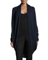 P. Luca Draped Open Front Cocoon Cardigan Navy