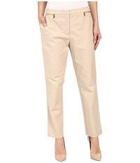 Calvin Klein Ankle Pants W Zips Latte Women's Casual Pants Brown