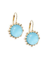Anzie Dew Drop Turquoise Doublet And 14K Yellow Gold Drop Earrings Gold Blue