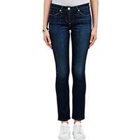 3X1 Women's Mid Rise Straight Jeans Navy