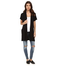 Culture Phit Marciana Modal Cardigan With Side Slits Black Women's Sweater