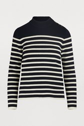 Celine Sailor Knit Sweater Navy Cream