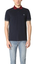 Fred Perry Colorblock Pique Shirt Service Blue