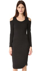Monrow Shoulder Cutout Dress Black