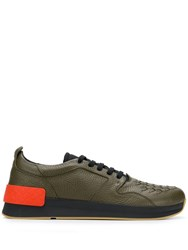 Bottega Veneta Woven Low Top Trainers Green