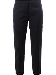 Thom Browne Tailored Cropped Skinny Trousers Blue