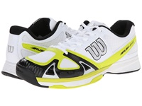 Wilson Rush Evo Solar Lime Black Men's Tennis Shoes White
