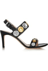 Marc Jacobs Embellished Leather Sandals Black