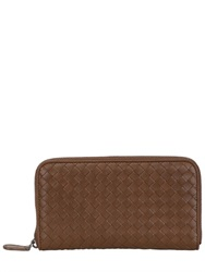 Bottega Veneta Woven Nappa Leather Zip Around Wallet