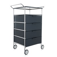 Kartell Mobil 4 Drawer Shelf And Wheels Opaque Slate