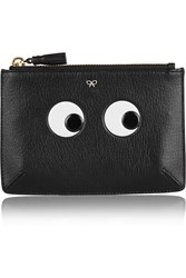 Anya Hindmarch Eyes Loose Pocket Small Textured Leather Pouch