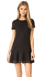 Ali And Jay Textured Knit Shift Dress Black