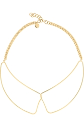 Marc By Marc Jacobs Gold Tone Collar Necklace