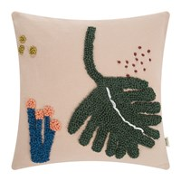 Ferm Living Embroidered Fruiticana Cushion Leaf