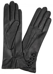 Dents Evelyn Cashmere Lined Leather Gloves Black And Red