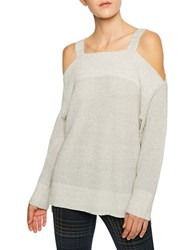 Sanctuary Solid Cold Shoulder Sweater Winter White