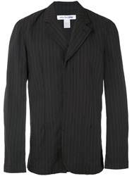 Comme Des Garcons Shirt Pinstripe Blazer Men Cotton S Black