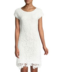 Chelsea And Theodore Crochet Lace Sheath Dress White