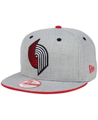 New Era Portland Trail Blazers Heather 9Fifty Snapback Cap