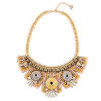 Niino Jewelry Gold Rush Wide Bib Necklace Multi