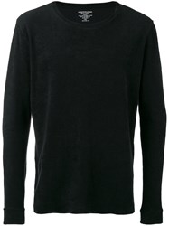 Majestic Filatures French Terry Sweater Men Cotton Modal Xl Black
