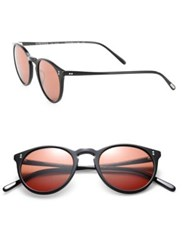 Oliver Peoples The Row The Row For Oliver Peoples O'malley Nyc 48Mm Round Sunglasses Black Red