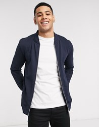 Tom Tailor Bomber Jacket In Blue