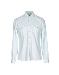 M.Grifoni Denim Shirts Light Green