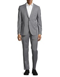 Strellson Two Button Wool Blend Suit Set Charcoal