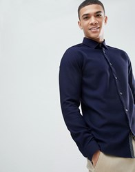 Ted Baker Shirt In Navy Jersey