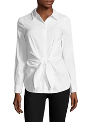Bailey 44 Shinto Tie Front Shirt White
