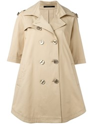 Tagliatore Double Breasted Coat Nude Neutrals