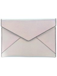 Rebecca Minkoff Envelope Clutch Bag Leather Polyester Metallic