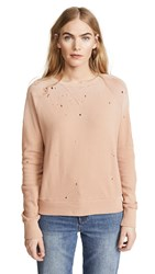 Lna Variation Distressed Sweatshirt Tawny Birch Potassium