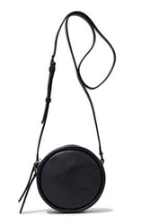 Kara Woman Pebbled Leather Shoulder Bag Black
