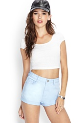 Forever 21 Tribal Patterned Crop Top White