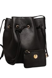 Erica Anenberg Chelsea Leather Bucket Bag Black