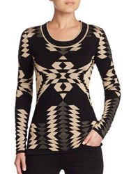 Ralph Lauren Printed Cashmere Sweater Black Bone