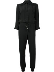 Just Cavalli Tapered Leg Jumpsuit Black