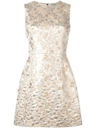 Dolce And Gabbana Brocade Dress Metallic
