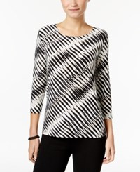 Jm Collection Printed Jacquard Top Only At Macy's Neutral Combo