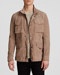 The Men's Store At Bloomingdale's Leather Field Jacket Sand