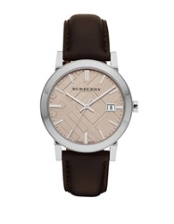Burberry Mens Brown Leather Watch