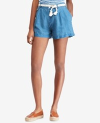 Polo Ralph Lauren Linen Shorts Indigo Blue