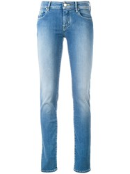 Jacob Cohen 'Jocelyn' Slim Jeans Women Cotton Polyester Spandex Elastane 33 Blue