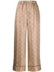 Fendi Ff Karligraphy Pijama Trousers Neutrals