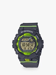 Casio 'S G Shock Connected Bluetooth Resin Strap Watch Black Green Gbd 800 8Aer